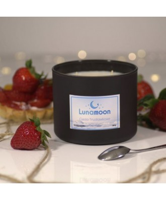 Lunamoon - Ciasto Truskawkowe - Świeca Zapachowa Sojowa Duża