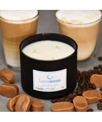 Lunamoon - Karmelowe Latte - Świeca Zapachowa Sojowa Duża