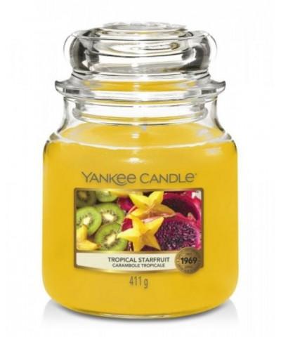 Yankee Candle - Tropical Starfruit - Świeca Zapachowa Średnia