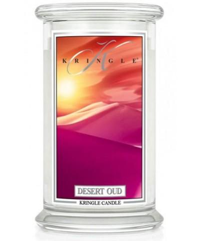 Kringle Candle - Desert Oud - Świeca Zapachowa Duża 2 Knoty