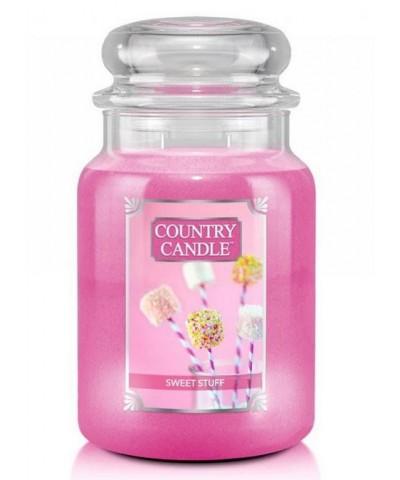 Country Candle - Sweet Stuff - Świeca Duża 2 Knoty