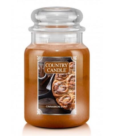 Country Candle - Cinnamon Buns - Świeca Zapachowa Duża 2 Knoty