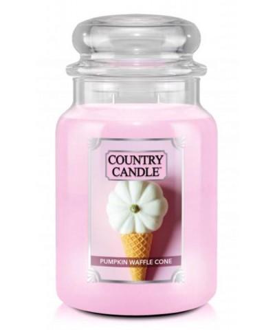 Country Candle - Pumpkin Waffle Cone - Świeca Zapachowa Duża 2 Knoty