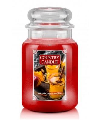 Country Candle - Warm Cider Sangria - Świeca Zapachowa Duża 2 Knoty