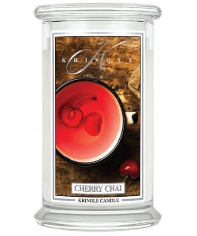 Kringle Candle - Cherry Chai - Świeca Zapachowa Duża 2 Knoty