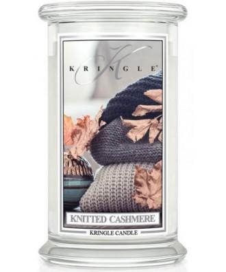 Kringle Candle - Knitted Cashmere - Świeca Zapachowa Duża 2 Knoty