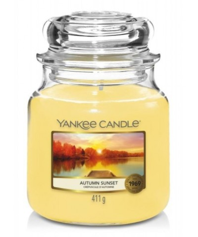 Yankee Candle - Autumn Sunset - Świeca Zapachowa Średnia