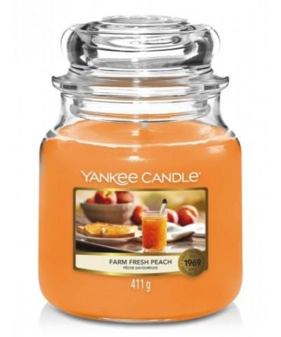 Yankee Candle - Farm Fresh Peach - Świeca Zapachowa Średnia