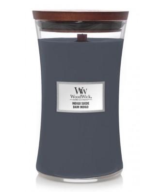Woodwick - Indigo Suede - Świeca Zapachowa Duża Core