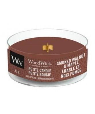 Woodwick - Smoked Walnut & Maple - Petite Candle