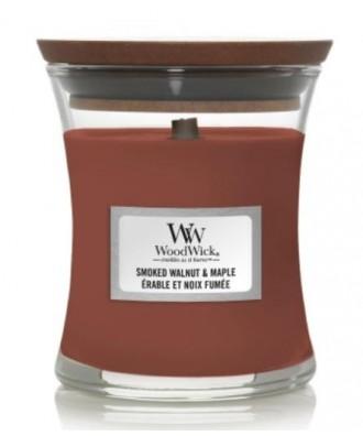 Woodwick - Smoked Walnut & Maple - Świeca Zapachowa Mała Core
