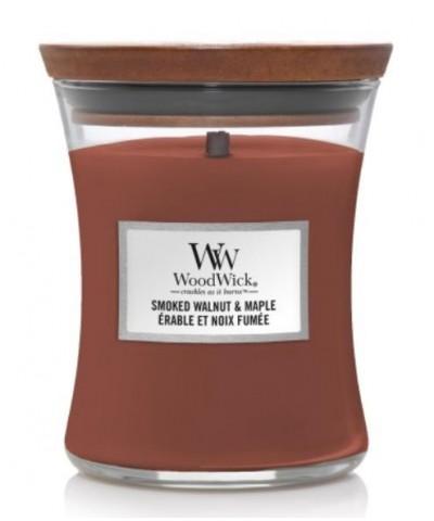 Woodwick - Smoked Walnut & Maple - Świeca Zapachowa Średnia Core