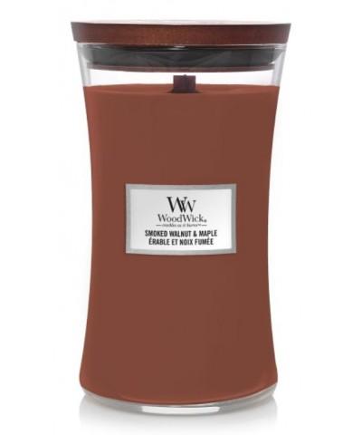 Woodwick - Smoked Walnut & Maple - Świeca Zapachowa Duża Core