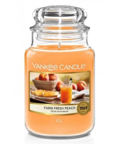 Yankee Candle - Farm Fresh Peach - Świeca Zapachowa Duża