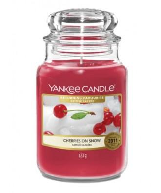 Yankee Candle - Cherries On Snow - Wiśnie na Śniegu - Świeca Zapachowa Duża