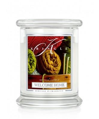 Kringle Candle - Welcome Home - Witaj w Domu - Świeca Zapachowa Średnia 2 Knoty