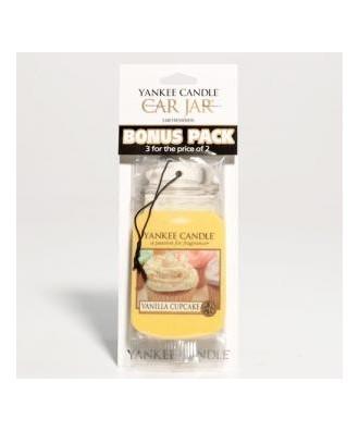 Vanilla Cupcake - Waniliowa Babeczka (Car Jar Bonus Pack - 3 szt.)
