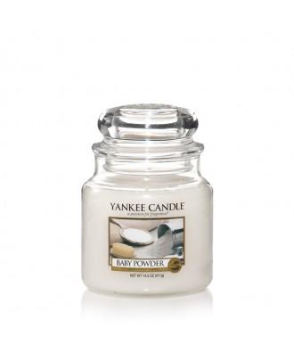 Yankee Candle - Baby Powder - Puder Niemowlaka - Świeca Zapachowa Średnia