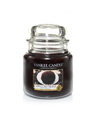 Yankee Candle - Cappuccino Truffle - Cappuccino i Trufle - Świeca Zapachowa Średnia