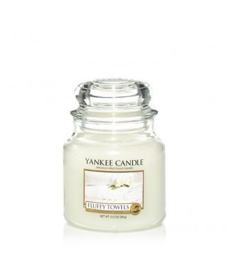 Yankee Candle - Fluffy Towels - Puszyste Ręczniki - Świeca Zapachowa Średnia
