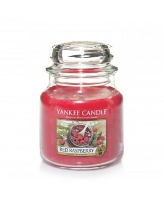 Yankee Candle - Red Raspberry - Czerwone Maliny - Świeca Zapachowa Średnia