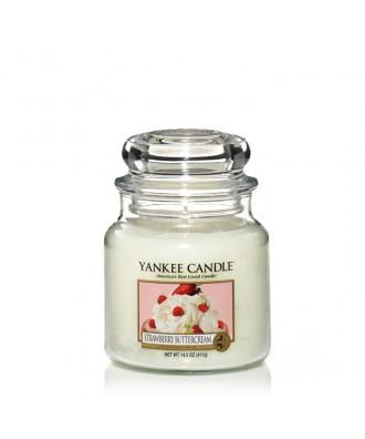 Yankee Candle - Strawberry Buttercream - Krem Truskawkowy - Świeca Zapachowa Średnia