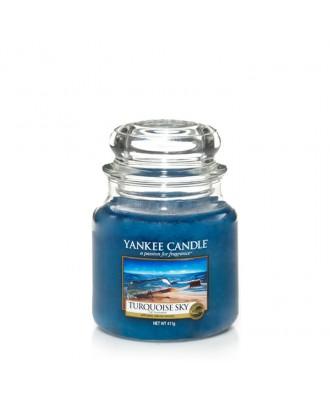 Yankee Candle - Turquoise Sky - Turkusowe Niebo - Świeca Zapachowa Średnia