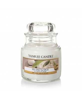 Yankee Candle - Sea Salt & Sage - Sól Morska i Szałwia - Świeca Zapachowa Mała