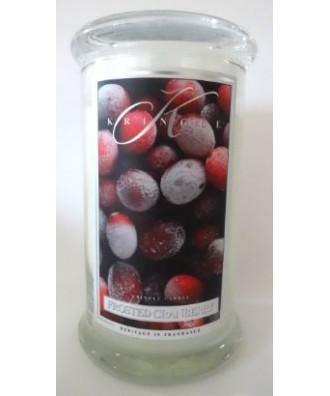 Kringle Candle - Frosted Cranberry - Mroźna Żurawina - Świeca Zapachowa Duża 2 Knoty